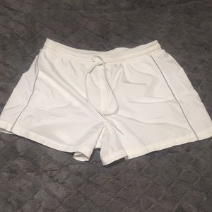 White L running shorts by Athletic Works